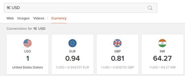 Transformaciones de moneda DDG