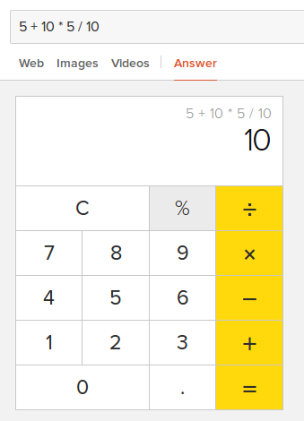 Calculadora sencilla