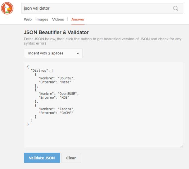 DDG JSON Validator