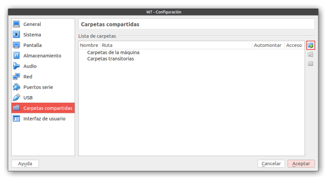 carpetas compartidas virtualbox